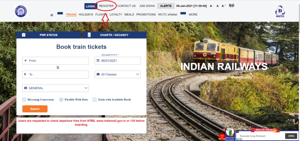 Train Ticket Booking Online