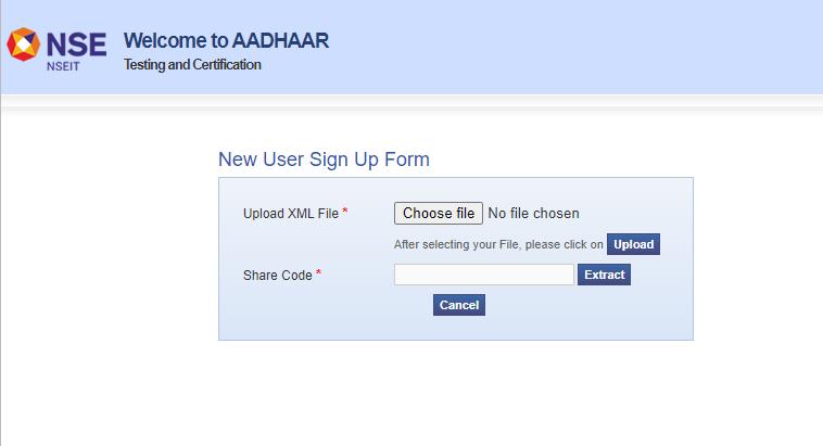 NSEIT Aadhaar Supervisor Operator Exam Registration Process
