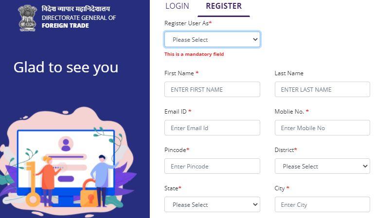 IEC Code Apply Online 2021 Import Export Certificate Registration