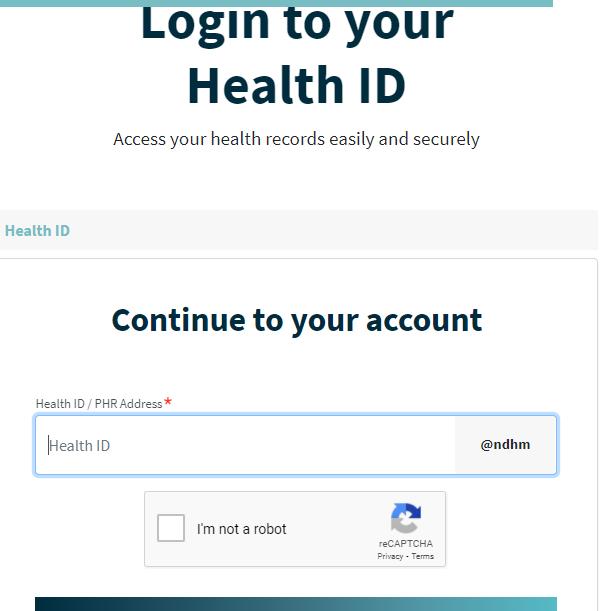 Health ID Online Apply