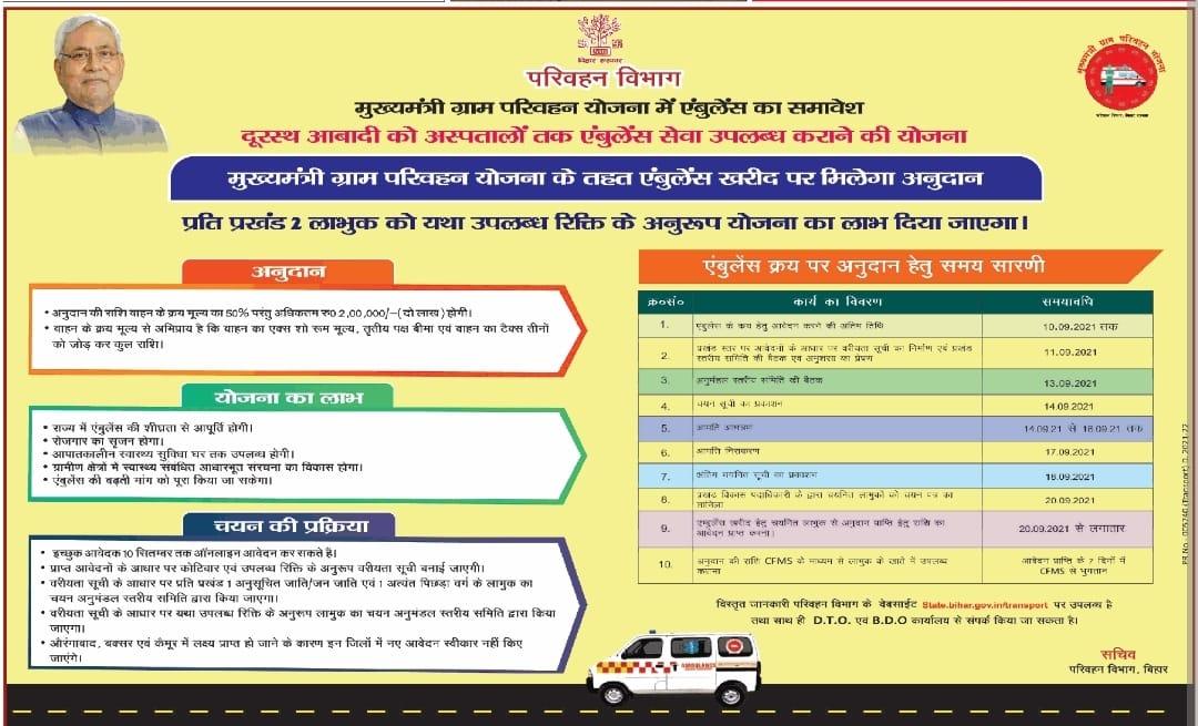 Mukhyamantri Gram Parivahan Yojana (MGPY) Online Apply 2021